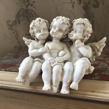Cream Cherub Triplets Vintage Shabby Chic Style Ornament Decoration Gift
