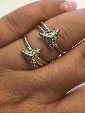 Arrow Ring Sz 8 Fashion Silver Tone Wire