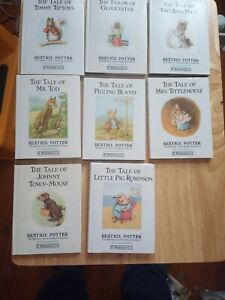 Collection 8 Beatrix Potter Books Hardback