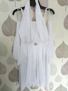 1st Position White Halterneck Winged Lyrical Dance Dress