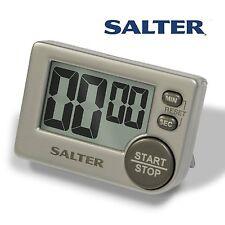 2 Pack Salter Big Button Timer Electronic Digital 397 Large Black Silver Contour