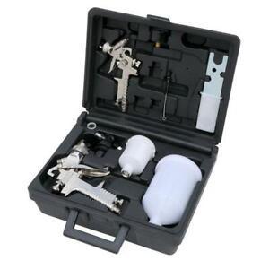 7 Piece Air Spray Gun Kit - HVLP Spray gun Mini Spray Gun Regulator and nozzles
