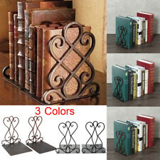 Pair Vintage Iron Book End Shelf Craft Stand Antique Bookend Home Room Decor !