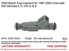 1 Fuel Injector for Chevrolet GM Vehicles 5.7L VIN G & S OEM Bosch #0280155931