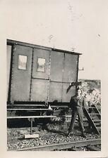 1945 WWII US Army 332nd Engineers 2 Photos GIs ID'd train  Rheinhausen Germany