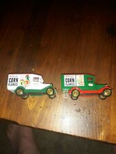 Vintage Kellogg's Corn Flakes Promotional Delivery Trucks Lot Of 2