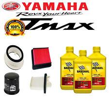 TAGLIANDO T-MAX 500 4 FILTRI + 3 LT OLIO BARDHAL XTC C60 10W40 2008 2009 TMAX
