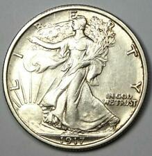 1917 Walking Liberty Half Dollar 50C Coin - Choice AU / Uncirculated Details