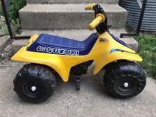 Vintage Lil Suzuki Power Wheels Quad Four Wheeler ATV Ride On Toy
