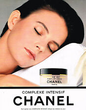 PUBLICITE ADVERTISING 084  1991  CHANEL  cosmétiques  COMPLEXE INTENSIF