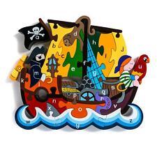 Alphabet Jigsaws - Bateau Pirate A-Z Puzzle - Gros Brillant & Éducatif 33x19cms
