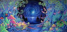 "Psychedelic Trippy Art Silk Cloth Poster 28 x 13"" Decor 40"