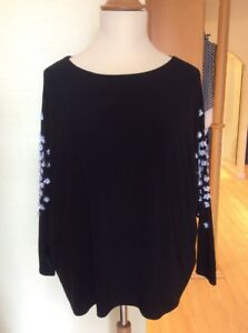 Joseph Ribkoff Top Size 18 BNWT Black With White Sequins RRP £210 Now £69