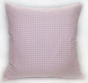 Ra001a Pink Off White Checker Soft Cotton Fabric Cushion Cover/Pillow Case