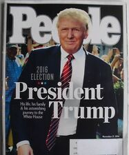 PEOPLE MAGAZINE November 21, 2016 PRESIDENT TRUMP Collectors ELECTION USA RARE!