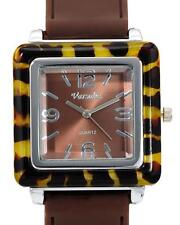VARSALES V4886 4 Ladies Watch Silver Two Tone Brown - BRAND NEW