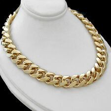 "11mm ROUNDED CURB Link 14k GOLD Layered 24"" Necklace 116g + LIFETIME GUARANTEE"