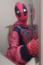 Adult Mens Deadpool union suit, Mask, gloves, and socks Size MD