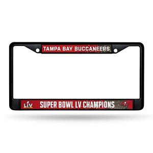 Tampa Bay Buccaneers Super Bowl LV Champions BLACK Metal License Plate Frame