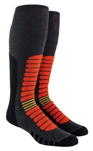 New 2019 Rome SDS F.I.T. Daily Snowboard Socks Orange Cush One Size Dark Grey