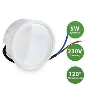 LED Modul flach flat Ersatz für GU10-LED 120° 5W 3000K Warmweiß 230V