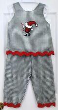 Ladybug Kids Btq. Ladybug Santa Claus Xmas, Holidays 2Pc Outfit Girl Sz 4T