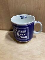 Nickel Plate Road Blue Railroad Train Coffee Cup Michael Leson Dinnerware