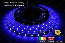 5m Indoor 300x 5630 LED Blue Fairy Lights Home Interior Decorative Strips 12VDC