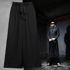 Byther Men's Urban Fashion Black Loose Fit Long Unique One Size Wide Pants AU