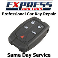 Land Rover Freelander 2 Remote 5 Button Key Fob Repair Service Case + Battery