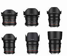 Samyang 6 Piece VDSLRⅡ Cine Lens Kit for Canon - 85.50.35.24.16.12mm -Warranty