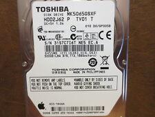 Toshiba MK5065GSXF (HDD2J62 P TV01 T) 010 D0/GP005B Apple#655-1646A 500gb Sata