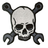 Patch écusson blason patche Mechanic Skull mécanique tete de mort thermocollant