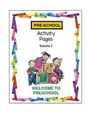 PRESCHOOL Printable PDF Activity Workbook Vol 1 Ages 3 to 5 Reading Writing Math