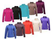 RRP £16 REGATTA LADIES HALF ZIP MICROFLEECE TOP SIZES 10-26 Swhrt Womens Fleece