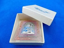 Glass Icon/Plaque, Pink Bubbled Bezel, Madonna w/Child, Christening Gift, #5064
