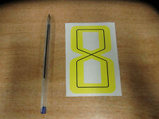 GUY MARTIN race number 8 - Yellow &  Black Sticker / Decal 100mm
