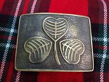 TC Men's Kilt Belt Buckle Irish Shamrock Antique/Irish Shamrock Kilt Belt Buckle