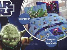 STAR WARS 3pc TWIN BED SHEET SET Yoda Darth Vader Jedi C3PO R2D2 movie Vintage