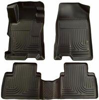 Husky Liners 2012-2013 Honda Civic Floor Mats WeatherBeater All Weather Black