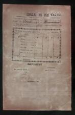 PERU official postal stampless document at Huaraz 1852 ship to Huamachuco VAPOR