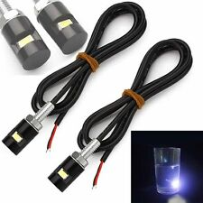 2pcs New 12V LED Motorcycle Car License Plate Screw Bolt Light Lamp Bulb Black