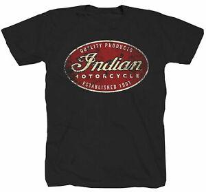 Motorcycle Indian America Motorrad USA Biker Rocker Freiheit 1% T-Shirt S-5XL