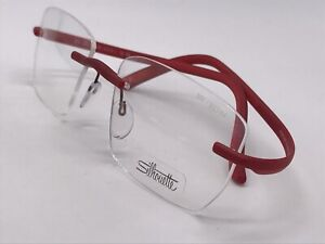 Silhouette Spx 1561 6050 Flexible Red High End Free Form 53-19 Medium + Case