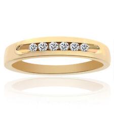0.25 Carat Mens Round Cut Diamond Wedding Band 14K Yellow Gold