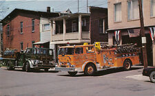 Mt. Carmel PA * Fire Dept. and Engines ca. 1970s * Northumberland Co.