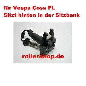 Sitzbankschloß Vespa  Cosa FL, an Sitzbank hinten