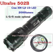 UltraFire 502B CREE XM-L2 U3 2000 Lumens Led Rechargeable Flashlight 502B  Torch