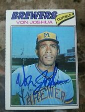 Von Joshua 1977  651 Autographed OF Topps Chewing Gum Inc Single Auto NA HS