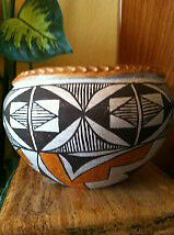 1940's-1950's RARE OLD COLLECTABLE ACOMA POLYCHROME POTTERY